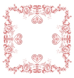 Heart frame Greeting and ornaments vector