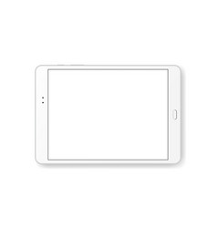 Horizontal tablet computer mock up isolated vector