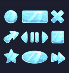 ice game buttons vector image
