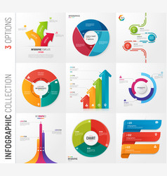 Infographic collection of 3 options vector