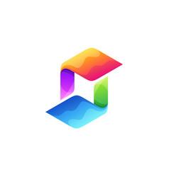 letter s logo design full color vector image