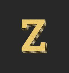 logo letter z gold vintage vector image