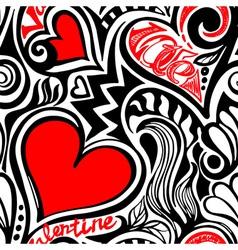 Love Valentine seamless pattern vector image