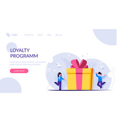 Loyalty program is a concept man and a woman vector