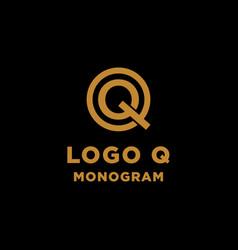 luxury initial q logo design icon element isolated vector image