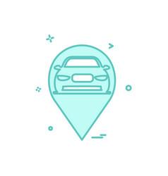 map car location icon design vector image