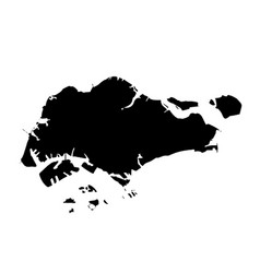 Map singapore isolated black vector