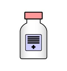 Medicine bottle on white vector
