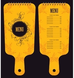 menu in the form of cutting board vector image