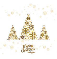 merry christmas background design vector image