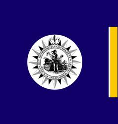 Nashville city flag vector