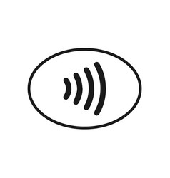 Nfc pay icon vector