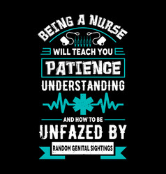 nurse t shirts design typographic quotes design vector image