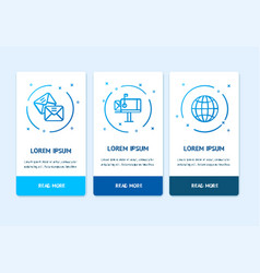 oneboarding app screens cards delivery service set vector image