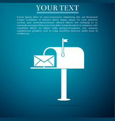 Open mail box with an envelope icon isolated vector