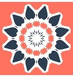 Orange mandala print tile vector
