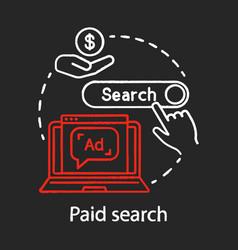 Paid search chalk concept icon ppc channel idea vector