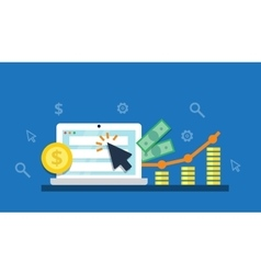 Pay Per Click internet marketing concept - flat vector image