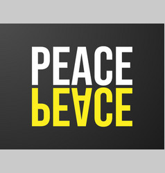 peace typography black background for t-shirt and vector image