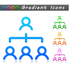 people symbol icon design vector image