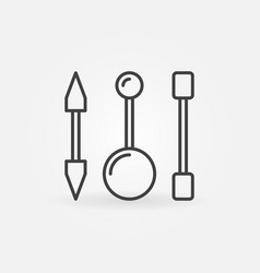 Piercing barbells outline icon piercing vector