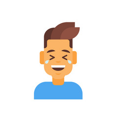 profile icon male emotion avatar man cartoon vector image