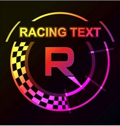 Racing emblem with a place for text vector image