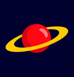 red planet icon flat style vector image