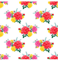 Rose cute seamless pattern2-01 vector