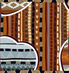 Seamless pattern in african style vector