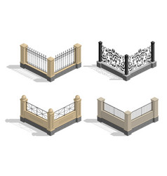 Set fence sections vector