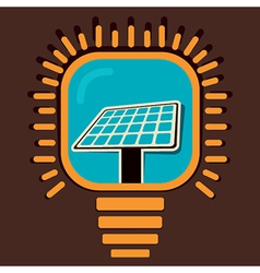 Solar panel icon in bulb concept vector