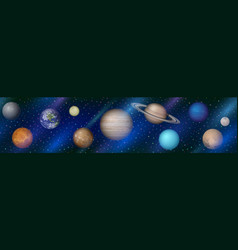 solar system planets seamless vector image