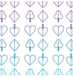 Suits diamond pike spade tile clover clubs hearts vector