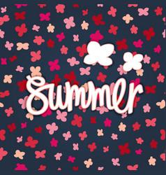 Summer floral banner vector