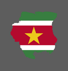 suriname flag and map vector image vector image