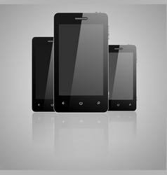 three telephones vector image