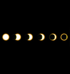 Total solar eclipse eclipse of the sun vector