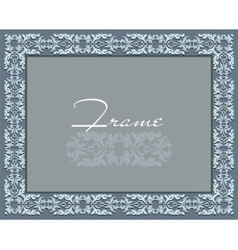 Vintage Abstract floral classic frame vector