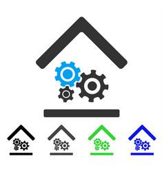 Workshop flat icon vector