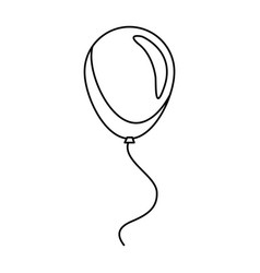 Balloon decoration celebration party line vector