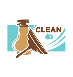 clean survice emblem with spray and brush vector image vector image
