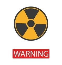 Danger radiation sign collection vector image vector image