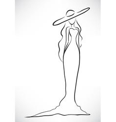 Elegant woman silhouette vector image vector image