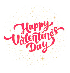 happy valentines day greeting card design bright vector image vector image