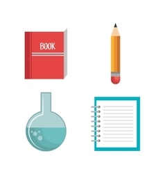 school supplies set icons vector image