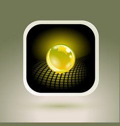 sphere app icon conceptual hi-tech design vector image