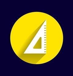 The ruler triangle icon button logo symbol concept vector image