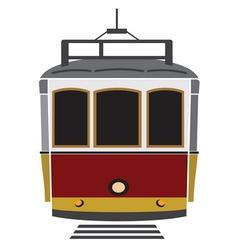 Tramvaj resize vector image vector image