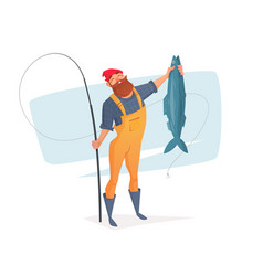 for rest on a fishing trip vector image